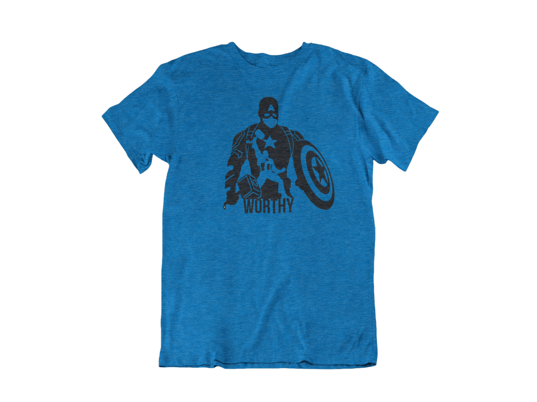 Captain America With Thor's Hammer - Unisex short sleeve T-Shirt