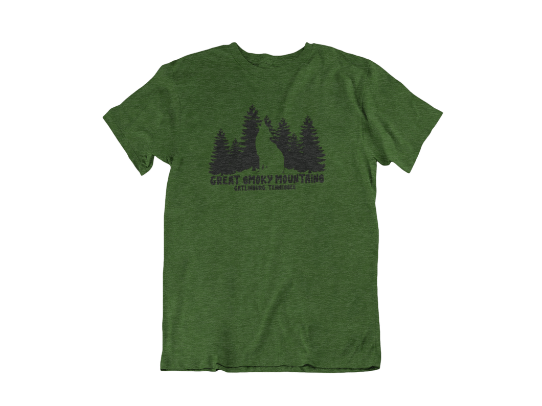 Lone Wolf - Gatlinburg TN - Unisex short sleeve T-Shirt