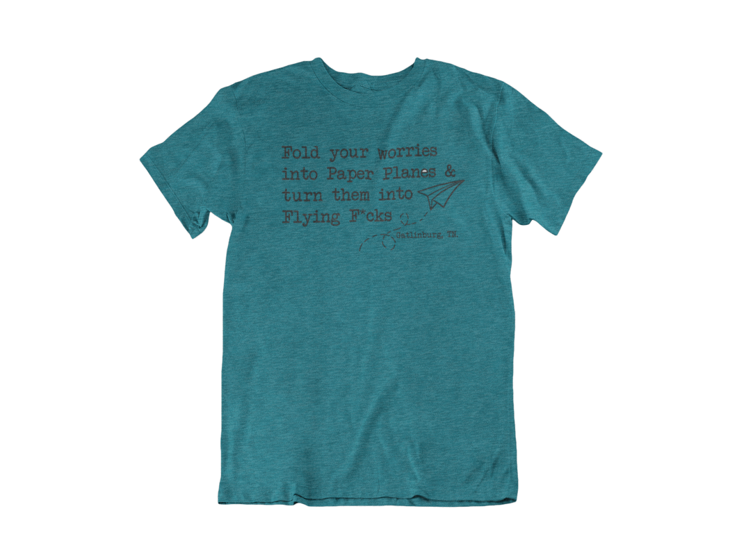 Fold Your Worries.....- Gatlinburg TN - Unisex short sleeve T-Shirt