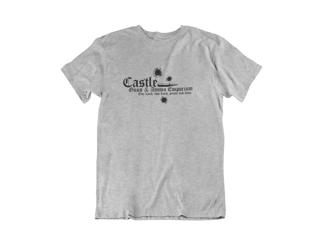 Castle Guns and Ammo Emporium - Punisher - Unisex short sleeve T-Shirt
