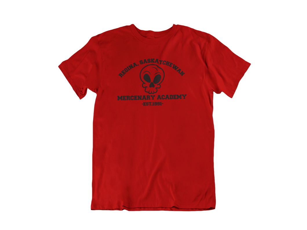Deadpool - Regina Saskatchewan Mercenary Academy  - Unisex short sleeve T-Shirt
