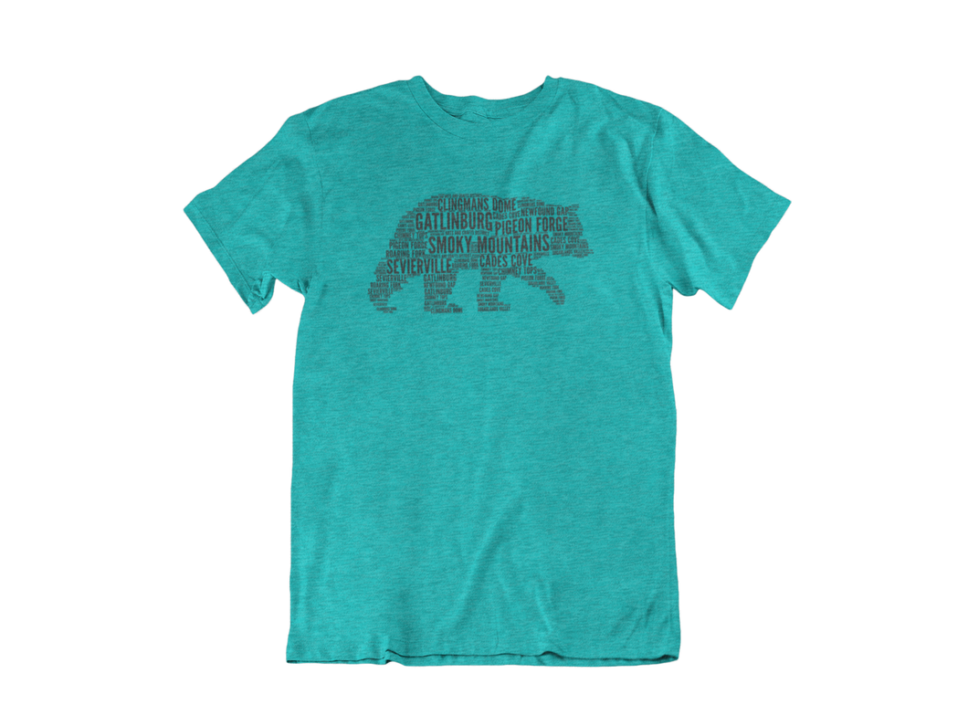 The Wordy Bear - Gatlinburg TN - Unisex short sleeve T-Shirt
