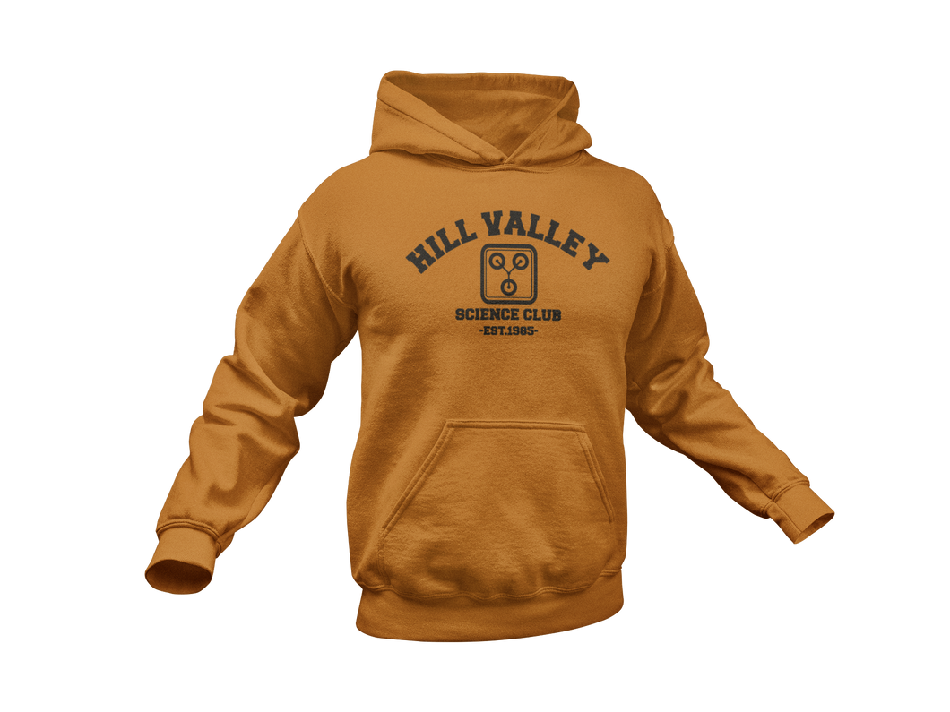 Back To The Future Hoodie - Hill Valley Science Club - Adult Unisex Hoodie