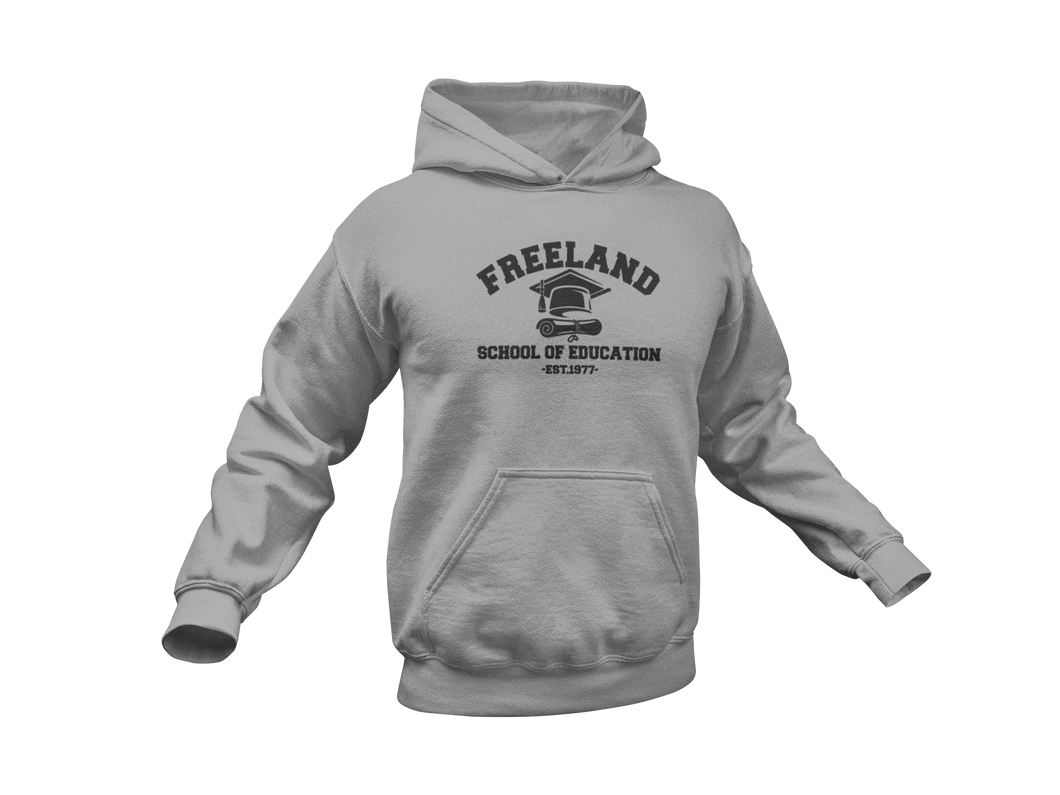 Black Lightning Hoodie - Freeland School of Education - Adult Unisex Hoodie