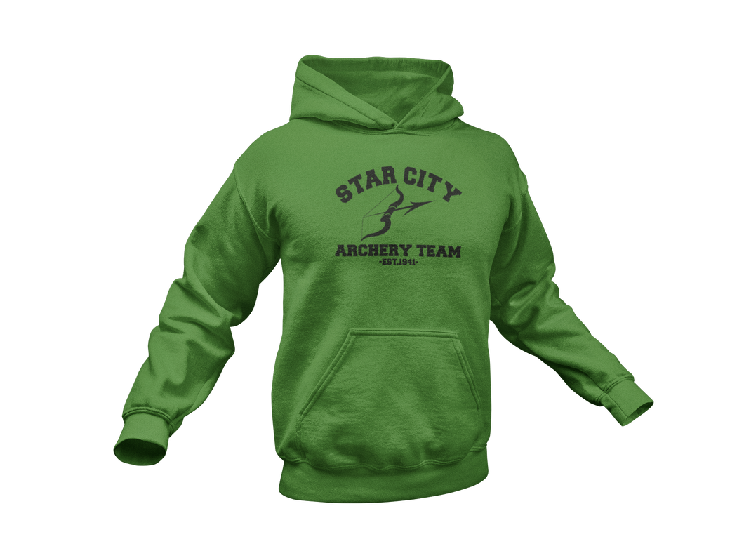 Green Arrow Hoodie - Arrow Hoodie - Star City Archery Team - Unisex Adult Hoodie