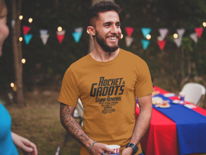 Rocket & Groot Stump Removal - Rocket & Groot - Unisex short sleeve T-Shirt