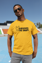Load image into Gallery viewer, I survived the Snap - Thanos / Avengers - Unisex short sleeve T-Shirt