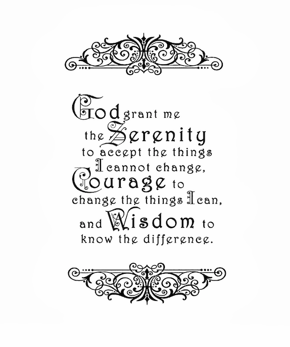 Top 10: Serenity Prayer typography posters for sale.