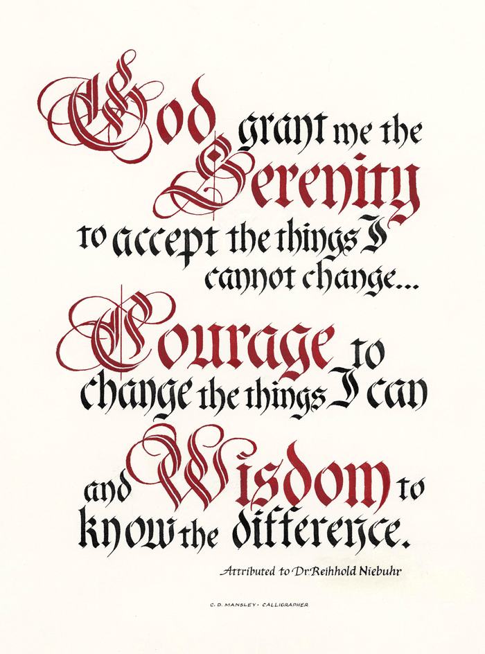 Top 10: Serenity Prayer typography posters for sale. – www ...