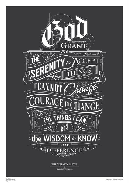 Top 10: Serenity Prayer typography posters for sale  – www posterama co