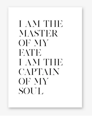 Top 10: Stunning INVICTUS poem typography posters for sale