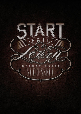 Typography: Start canvas poster