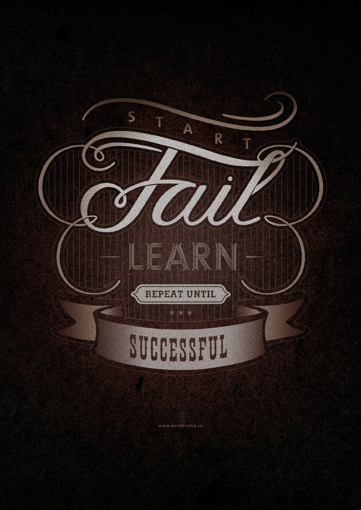Inspirational quotes: Fail typography poster