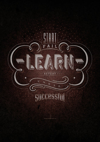 Inspirational quotes: Learn typography poster