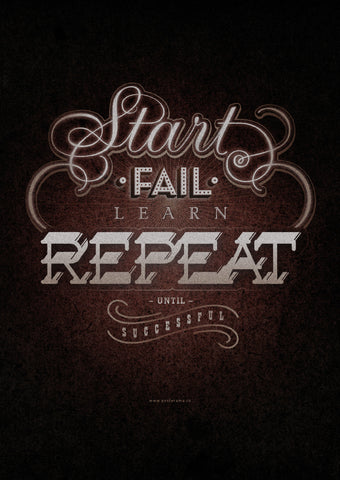 Inspirational quotes: Repeat canvas typography poster