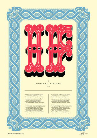 Poems: IF Rudyard Kipling, typography poster MH1