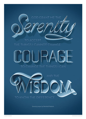 Inspirational quotes: Serenity Prayer poster