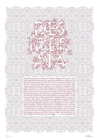 Inspirational quotes: Desiderata typography poster 2