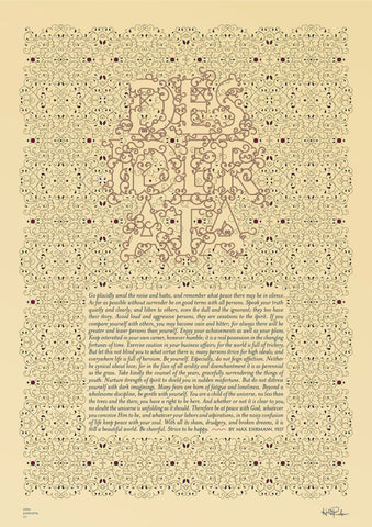 Inspirational quotes: Desiderata poem typography poster 1