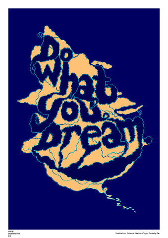 Inspirational quotes: Do what you Dream canvas poster