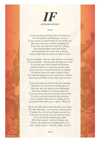 IF poem by Rudyard Kipling typography poster RJ2