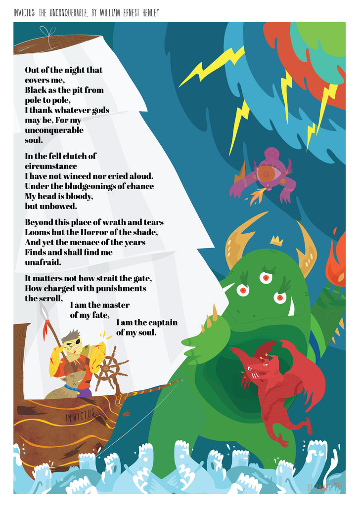 Invictus poem poster (Monsters)