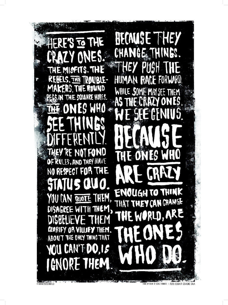Here's to the Crazy One's / Think Different poster