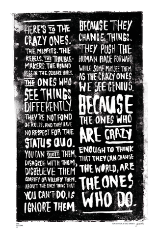 Christmas Gift Ideas? Here's to the Crazy One's / Think Different poster