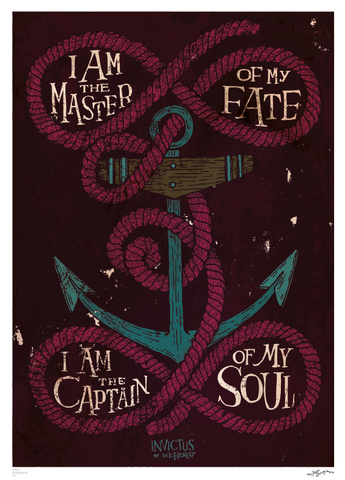 I am the captain of my soul typography poster