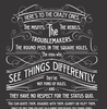 Inspirational quotes: Here's to the Crazy One's / Think Different poster Black