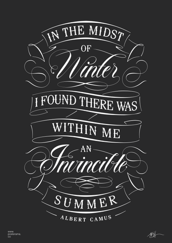 Albert Camus Invincible Summer quote poster 4
