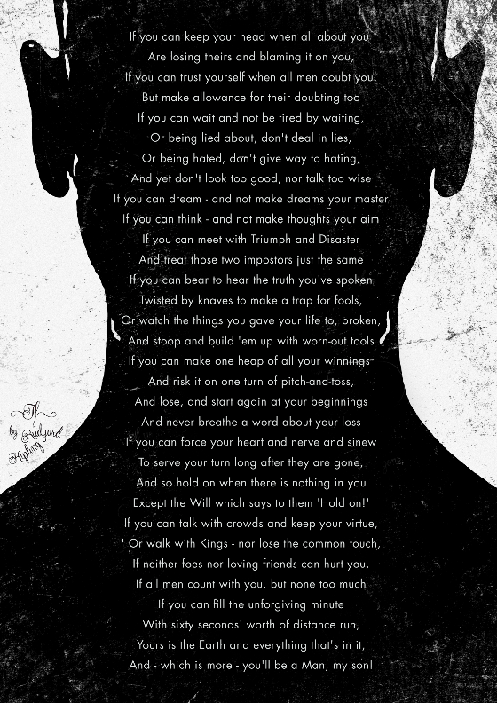 IF poem by Rudyard Kipling typography poster 2