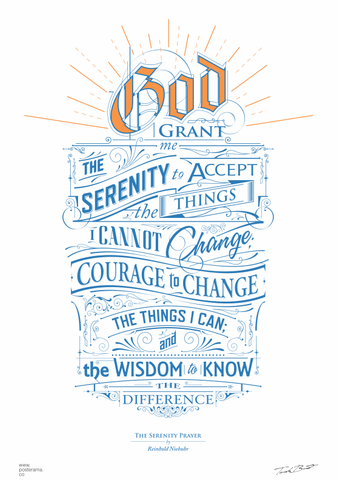 Inspirational quotes: Serenity Prayer poster 1762014