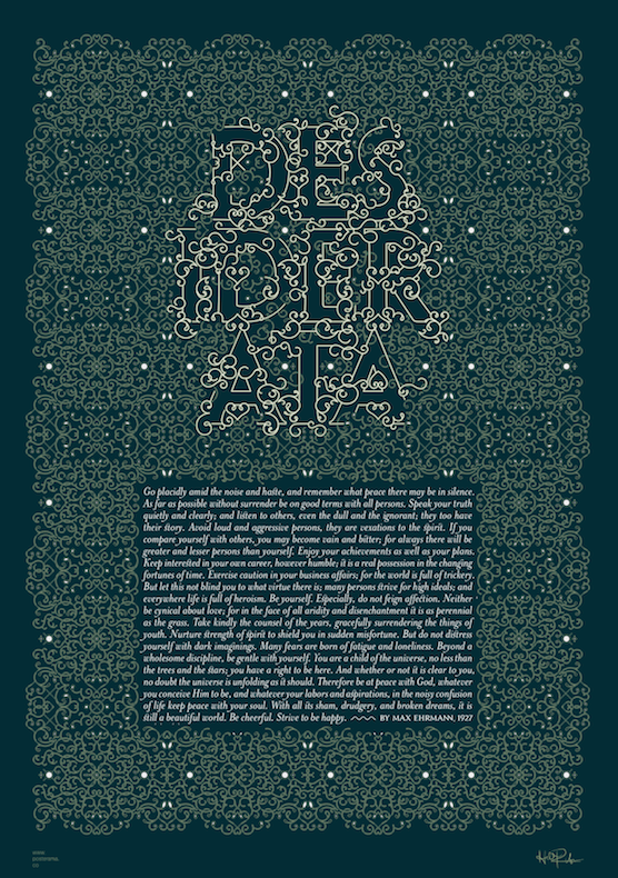 Inspirational quotes: Desiderata typography poster 8