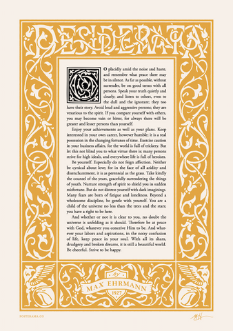 Inspirational quotes: Desiderata typography poster 12