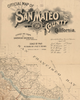 Old Map of San Mateo California poster