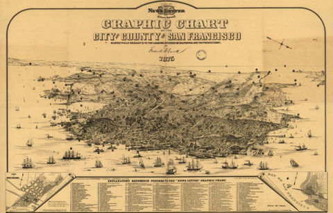 Old reproduction maps of California for sale – www.posterama.co on