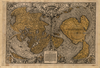 Antique typographic world map of Earth by Oronce Fine