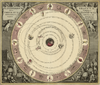 Antique typographic Celestial Chart map by Andreas Cellarius