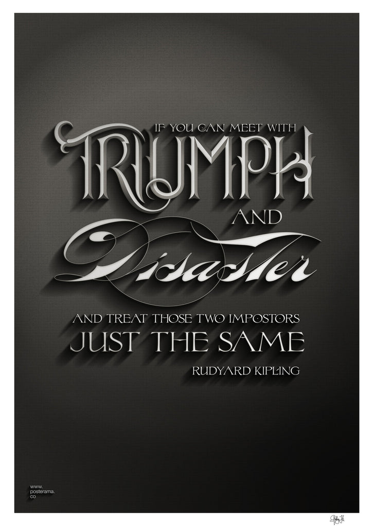 Inspirational quotes: IF, Rudyard Kipling poster Triumph