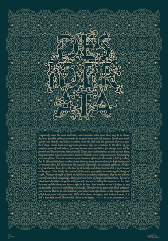 Inspirational quotes: Desiderata typography poster 9