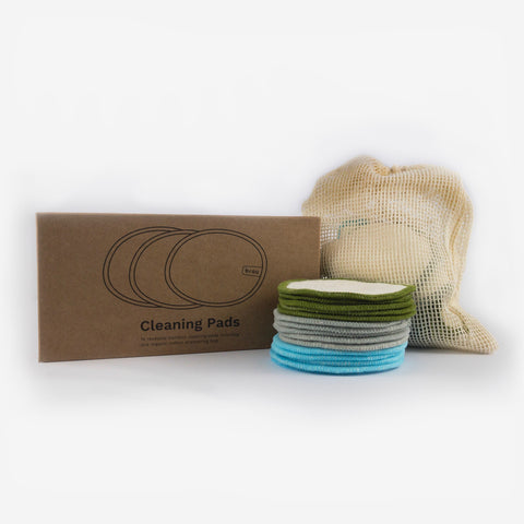 reusable zero waste bamboo cotton cleaning pads by brou