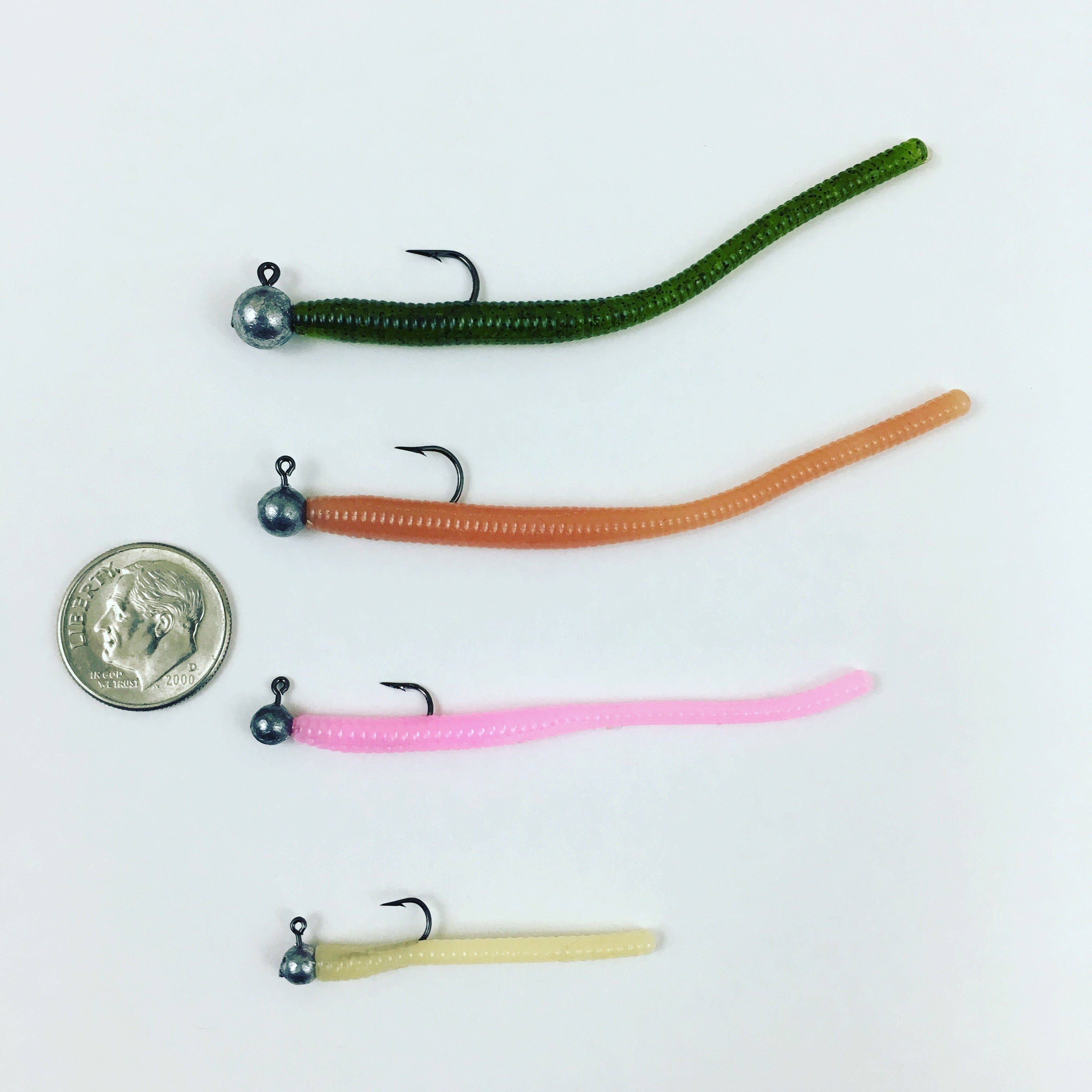 Super Floating Trout Worm: Lime Green