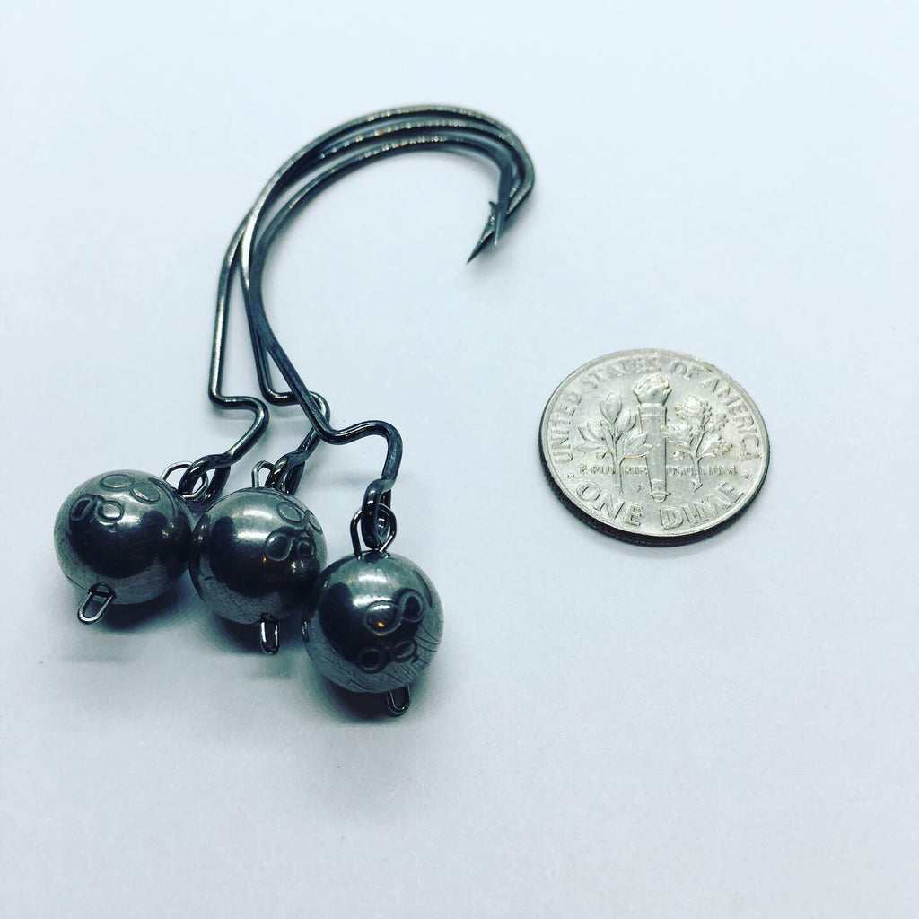 Tungsten Wobble Heads - 8 Gram/Gurza Worm 310 LE size 3/0
