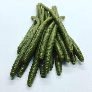 Super Floating Trout Worm: Green Pumpkin Seed