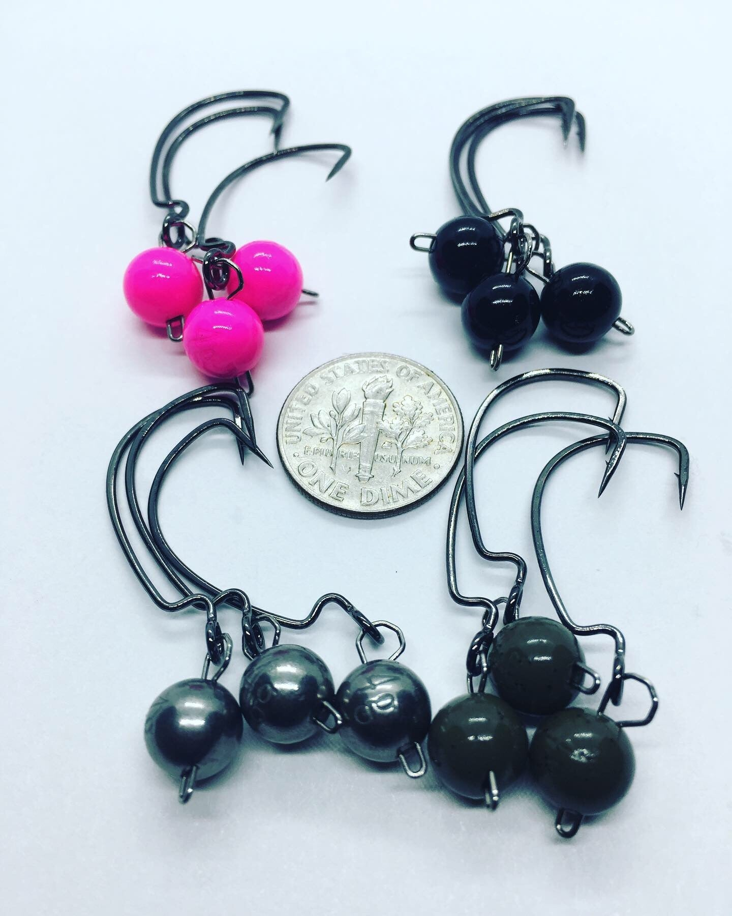 Tungsten Wobble Heads - 4 Gram/Gamakatsu Worm 330 size 4