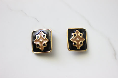 Enamel Clip On Earrings