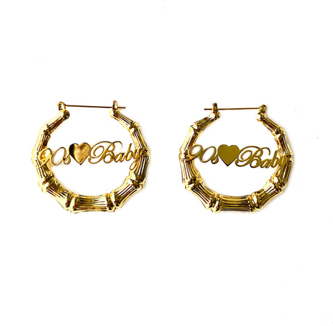 Gold Huggie Hoops