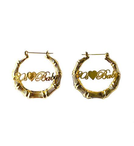 Birth Year Bamboo Hoop Earrings
