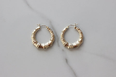 Timeless Bamboo Hoop Earrings